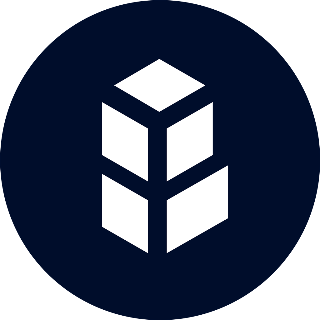 Bancor coin cercle logotype, transparent .png, medium, large