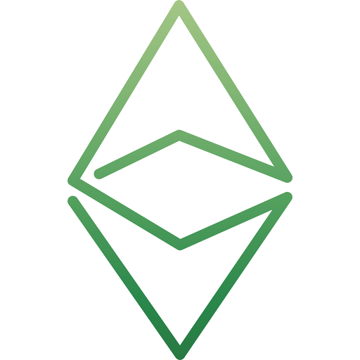 Ethereum coin green logo