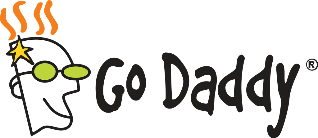 GoDaddy logotype, transparent .png, medium, large