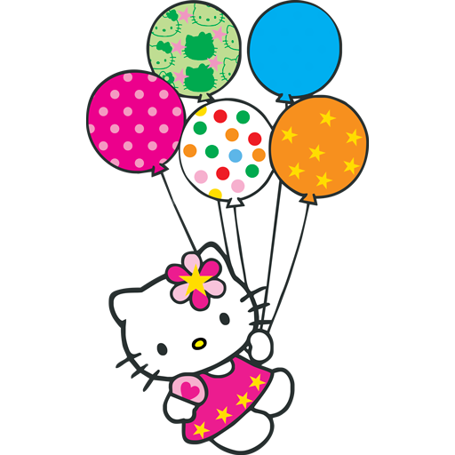 Hello Kitty globitos logo