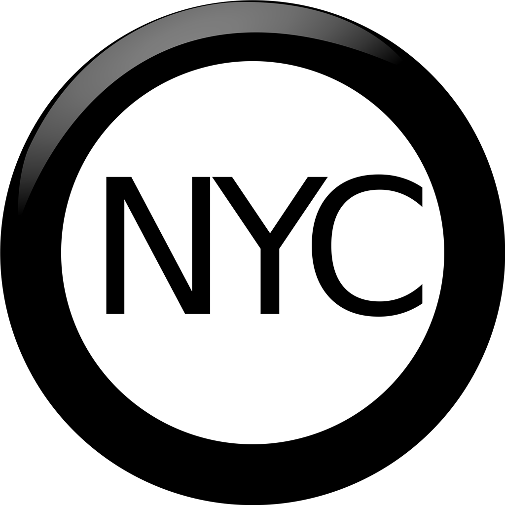 New York coin logotype, transparent .png, medium, large