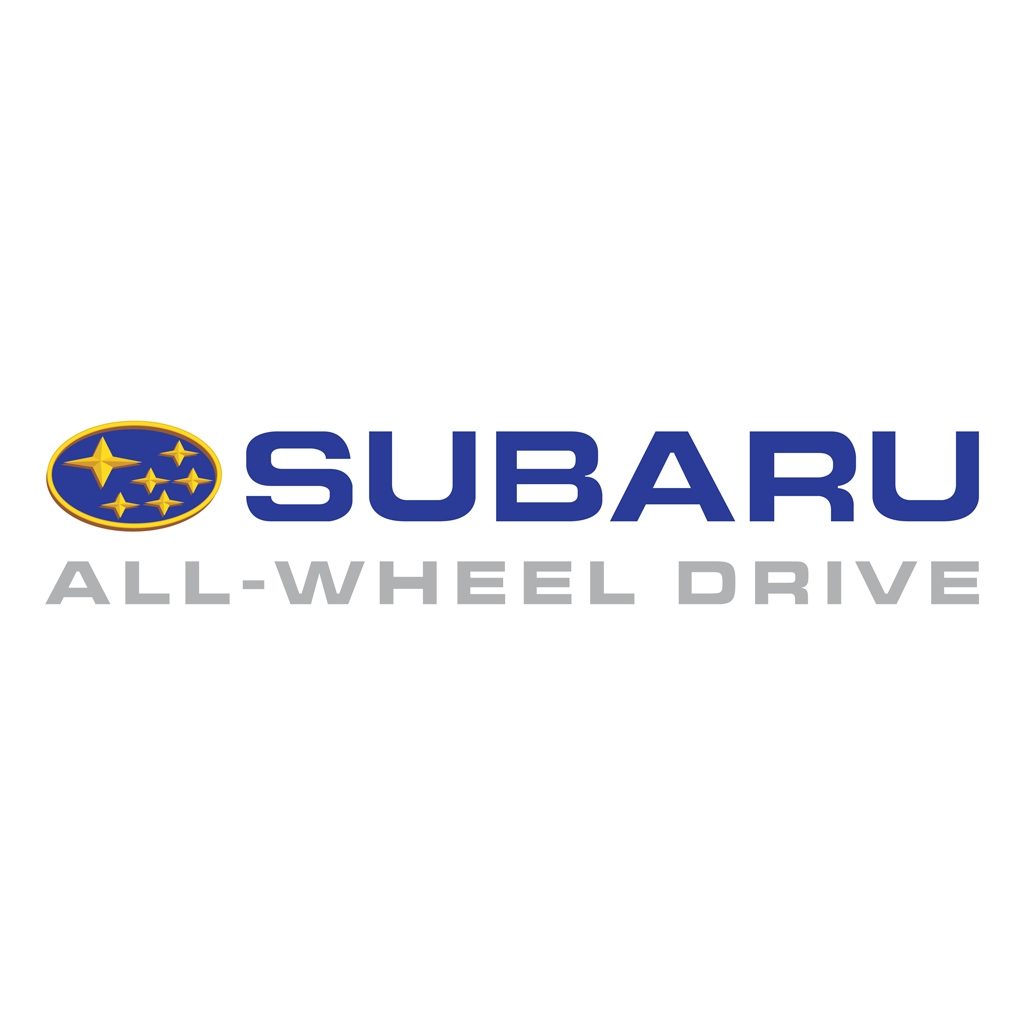 Subaru ALL-WHEEL DRIVE logotype, transparent .png, medium, large