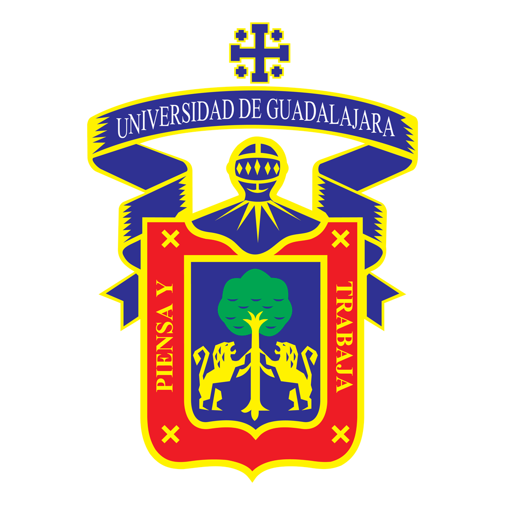 Universidad de Guadalajara logotype, transparent .png, medium, large