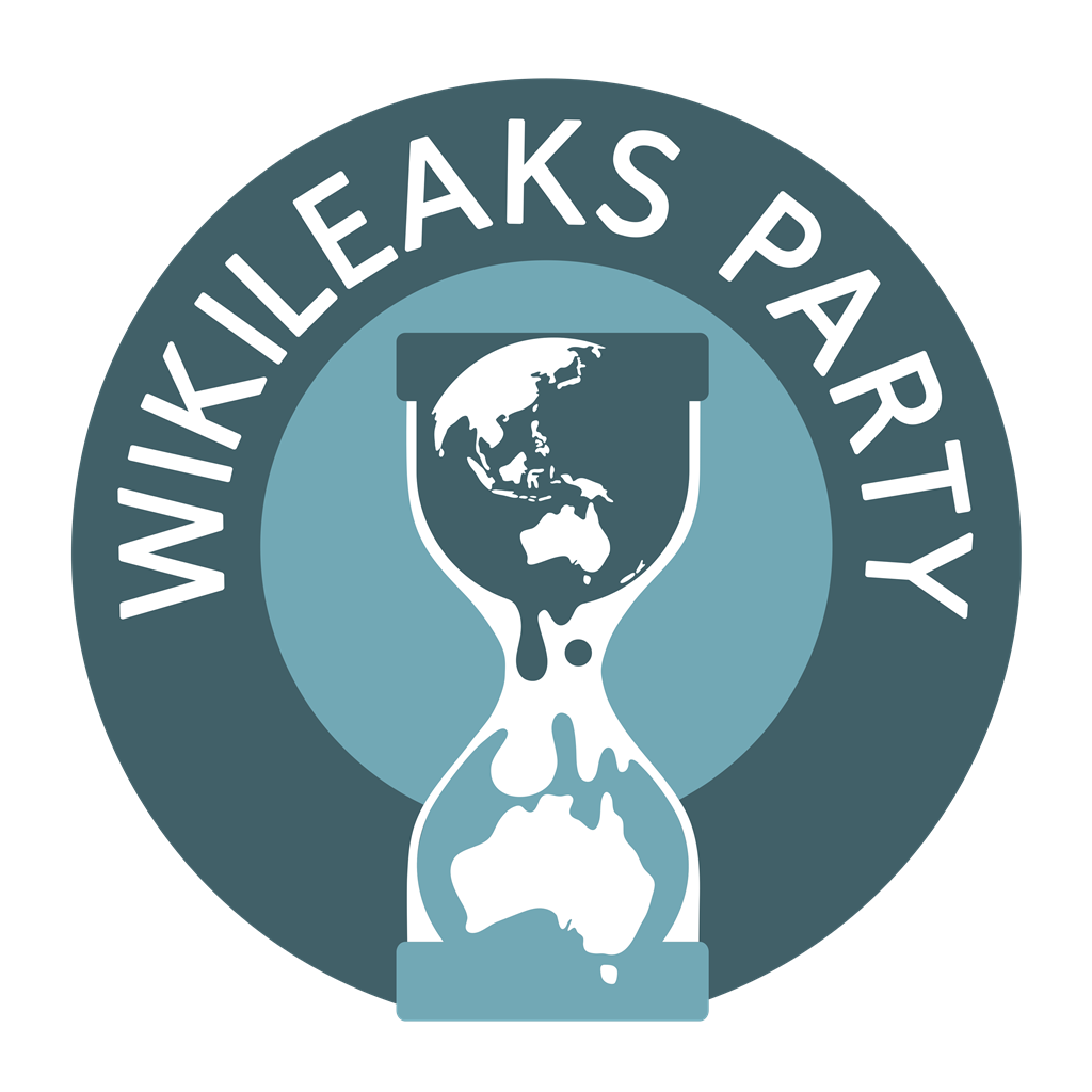 WikiLeaks Party logotype, transparent .png, medium, large