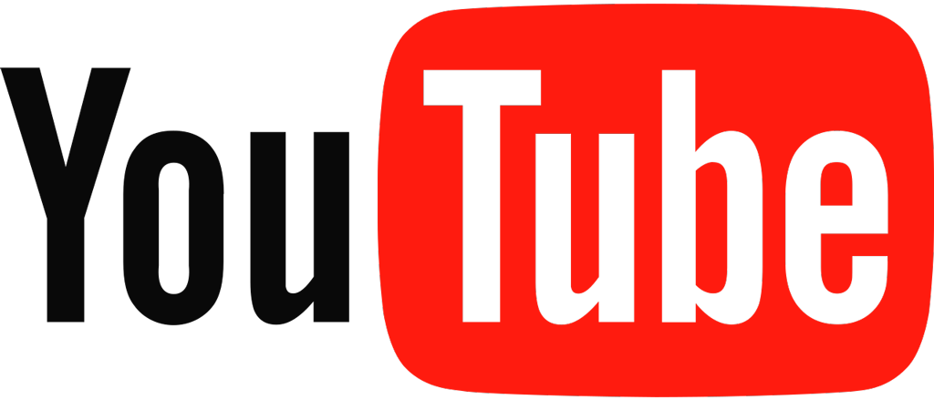 Youtube logotype, transparent .png, medium, large