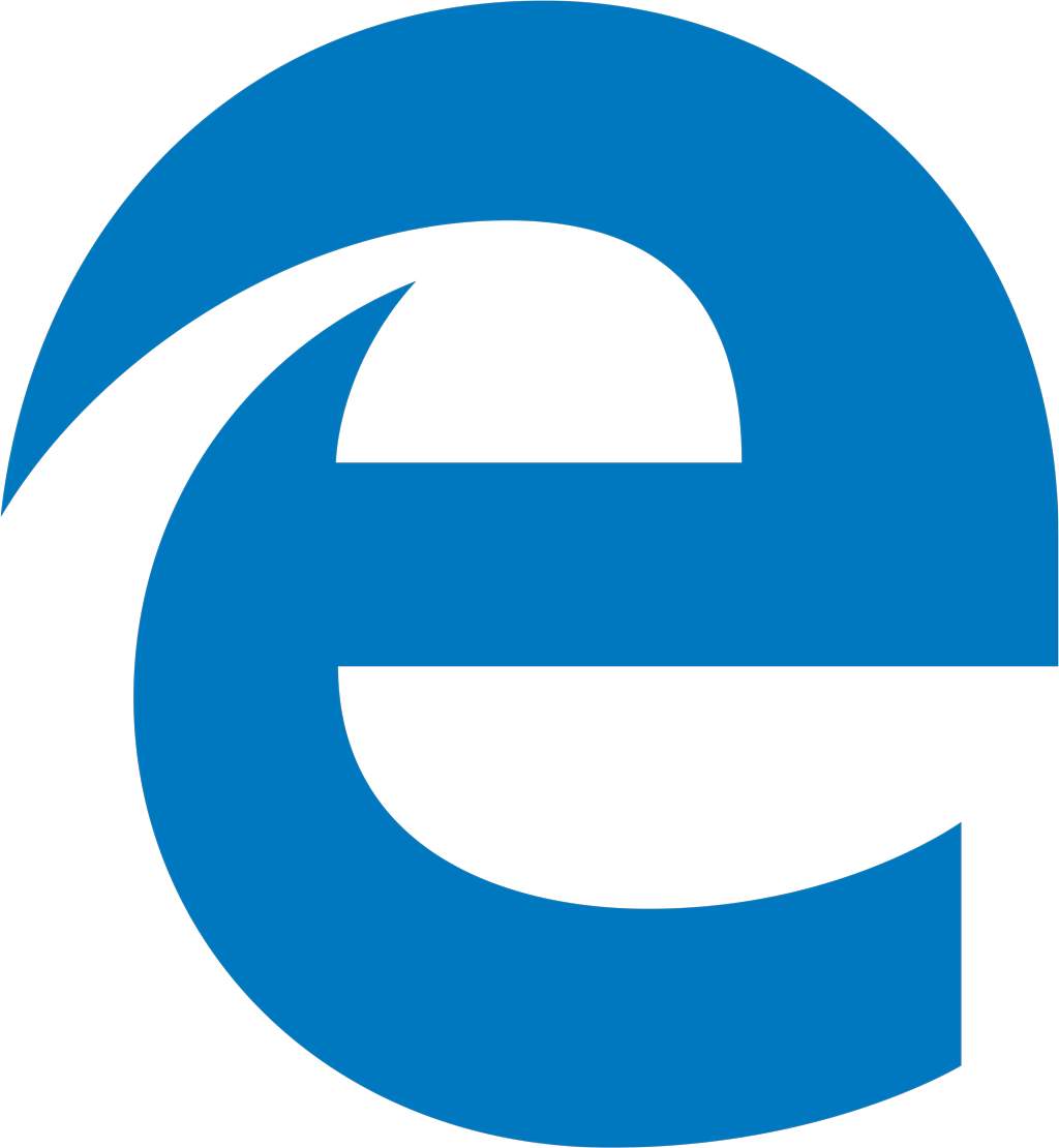 Microsoft Edge logotype, transparent .png, medium, large