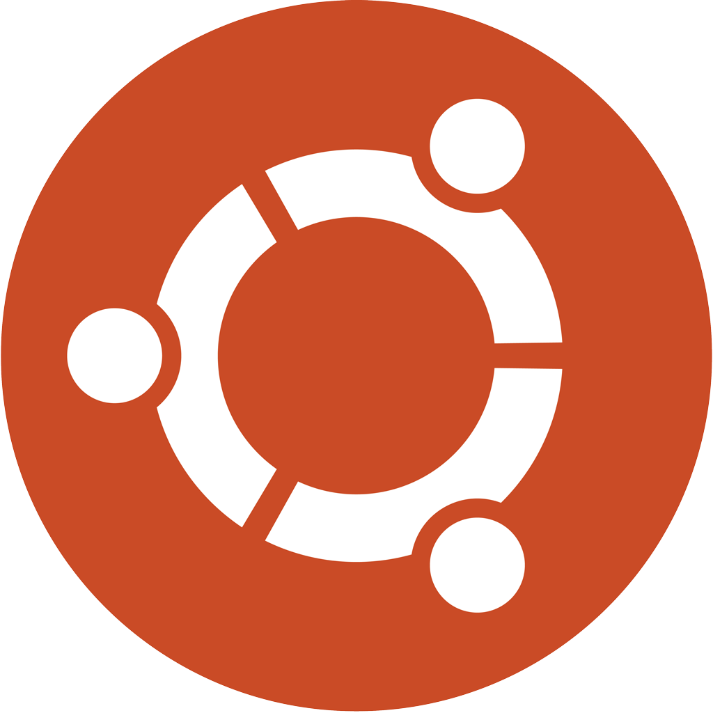 Ubuntu icon logotype, transparent .png, medium, large