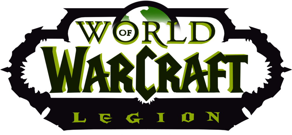 World of Warcraft logotype, transparent .png, medium, large